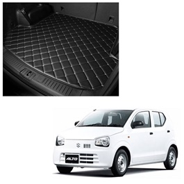 Suzuki Alto 7D Trunk Mat Mix Thread Black - Model 2018-2021 | Trunk Boot Liner | Cargo Mat Floor Tray | Trunk Protection Mat | Trunk Tray Cover Pad-SehgalMotors.Pk