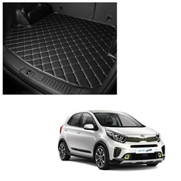 KIA Picanto 7D Trunk Mat Mix Thread Tray Black - Model 2019-2021 | Trunk Boot Liner | Cargo Mat Floor Tray | Trunk Protection Mat | Trunk Tray Cover Pad-SehgalMotors.Pk
