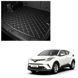 Toyota CHR 7D Trunk Mat Mix Thread Tray Black - Model 2017-2021 | Trunk Boot Liner | Cargo Mat Floor Tray | Trunk Protection Mat | Trunk Tray Cover Pad-SehgalMotors.Pk
