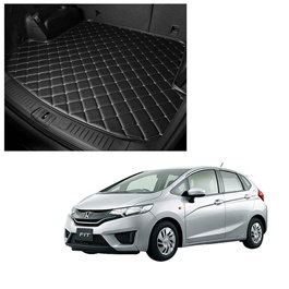 Honda FIT 7D Trunk Mat Mix Thread Black - Model 2013-2018 | Trunk Boot Liner | Cargo Mat Floor Tray | Trunk Protection Mat | Trunk Tray Cover Pad-SehgalMotors.Pk