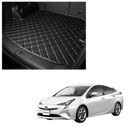 Toyota Prius 7D Trunk Mat Mix Thread Black - Model 2016-2018 | Trunk Boot Liner | Cargo Mat Floor Tray | Trunk Protection Mat | Trunk Tray Cover Pad-SehgalMotors.Pk