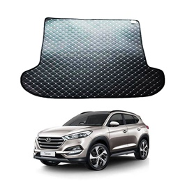 Hyundai Tucson 7D Trunk Mat Mix Thread - Model 2020-2021 | Trunk Boot Liner | Cargo Mat Floor Tray | Trunk Protection Mat | Trunk Tray Cover Pad-SehgalMotors.Pk