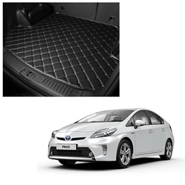 Toyota Prius 7D Trunk Mat Mix Thread Black - Model 2009-2015 | Trunk Boot Liner | Cargo Mat Floor Tray | Trunk Protection Mat | Trunk Tray Cover Pad-SehgalMotors.Pk
