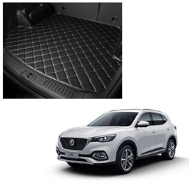 MG HS 7D Trunk Mat Mix Thread Tray Black - Model 2020-2021 | Trunk Boot Liner | Cargo Mat Floor Tray | Trunk Protection Mat | Trunk Tray Cover Pad-SehgalMotors.Pk