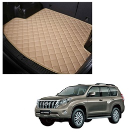 Toyota Prado 7D Trunk Mat Mix Thread Tray Beige For 5 Seat Car Only - Model 2009-2021 | Trunk Boot Liner | Cargo Mat Floor Tray | Trunk Protection Mat | Trunk Tray Cover Pad-SehgalMotors.Pk