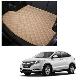 Honda Vezel 7D Trunk Mat Mix Thread Beige - Model 2013-2021 | Trunk Boot Liner | Cargo Mat Floor Tray | Trunk Protection Mat | Trunk Tray Cover Pad-SehgalMotors.Pk
