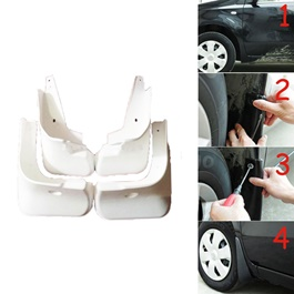 Toyota Yaris Mud Flaps White- Model 2020-2021 | Car Mudguard | Fender Mud Flaps | Splash Guards	-SehgalMotors.Pk