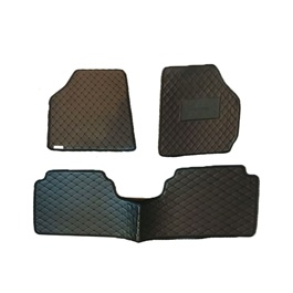 Suzuki Cultus 7D Eco Floor Mat Black Stitched Multi - Model 2007-2017 | Car Interior Mats For Floor | Car Mats | Vehicle Mats | Foot Mat For Car | Custom Car Floor Mats-SehgalMotors.Pk