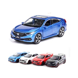 Honda Civic X Die Cast Car Toy Blue - Model 2016 -2021