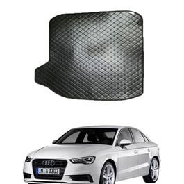 Audi A3 7D Trunk Mat Mix Thread Black - Model 2012-2018 | Trunk Boot Liner | Cargo Mat Floor Tray | Trunk Protection Mat | Trunk Tray Cover Pad-SehgalMotors.Pk