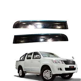 Toyota Hilux Vigo Champ Air Press / Sun Visor Sun Visors Black With Chrome - Model 2005-2016