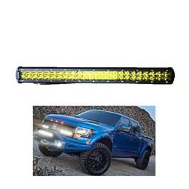 BMH Bar Light Universal Bar LED 20inch 144W 48LED Yellow | High Accuracy Jeep Light | Sharp Light | Jeep Decoration Light | Flood Spot Combo Beam Offroad Light Driving Fog Lamp-SehgalMotors.Pk