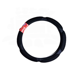 Universal Car Steering Cover Net Style Black  | Car Steering Wheel Cover | Auto Steering Wheel Cover | Anti Slip Wheel Cover | Non Slip Wheel Cover-SehgalMotors.Pk