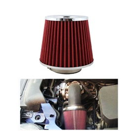 Simota Cold Air Intake Filter Red - Universal  | Universal Car Air Filter Vehicle Induction High Power Mesh | Auto Cold Air Hood Intake