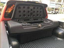 KQD Toyota Hilux Revo Rocco Trunk Utility Box - Model 2016-2021 | U-Box Storage Box Luxury Tool kit Box | 4x4 Accessories Pickup accessories Lounger Rack Cargo Storage Trunk Box -SehgalMotors.Pk