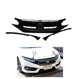 Honda Civic Bumper Upper Grille Thailand - Model 2016-2021-SehgalMotors.Pk