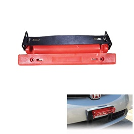 Number Plate License Plate Tilter Red and Carbon Fiber | License Holder Mount Bracket Number Plate | Auto License Plate Frame Aluminum Rotating Number Plate Adjustable License Plate Frame Tag Holder-SehgalMotors.Pk