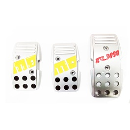 Momo Pedal Covers Manual Transmission Universal Silver