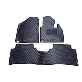 KIA Sorento 7D Eco Floor Mats Black Stitched Multi - Model 2020-2021 | Car Interior Mats For Floor | Car Mats | Vehicle Mats | Foot Mat For Car | Custom Car Floor Mats-SehgalMotors.Pk