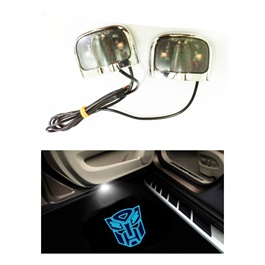 Transformers Ghost Shadow Floor LED Light - Multi | Car LED Courtesy Door Projector Light | Door Welcome Light Ghost Shadow Light Lamp-SehgalMotors.Pk