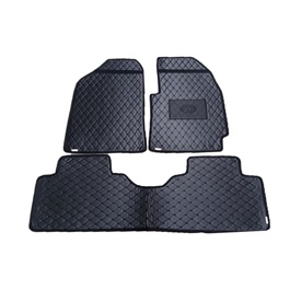 Hyundai Elantra 7D Eco Floor Mats Black Stitched Multi - Model 2020-2021 | Car Interior Mats For Floor | Car Mats | Vehicle Mats | Foot Mat For Car | Custom Car Floor Mats-SehgalMotors.Pk
