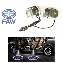 FAW Ghost Shadow Floor LED Light | Car LED Courtesy Door Projector Light | Door Welcome Light Ghost Shadow Light Lamp
