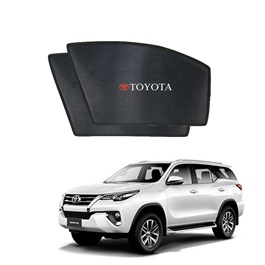 Toyota Fortuner Non Flexible Side Sunshade / Sun Shades With Logo - Model 2016-2021