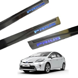 Toyota Prius Metal LED Sill Plates / Skuff LED panels