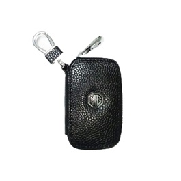 MG Zipper Leather Key Chain / Key Ring Pouch