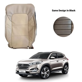 Hyundai Tucson Japanese Rexine Seat Covers Heat and Cold Design Black - Model 2020-2021