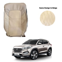 Hyundai Tucson Japanese Rexine Seat Covers Heat and Cold Design Beige - Model 2020-2021